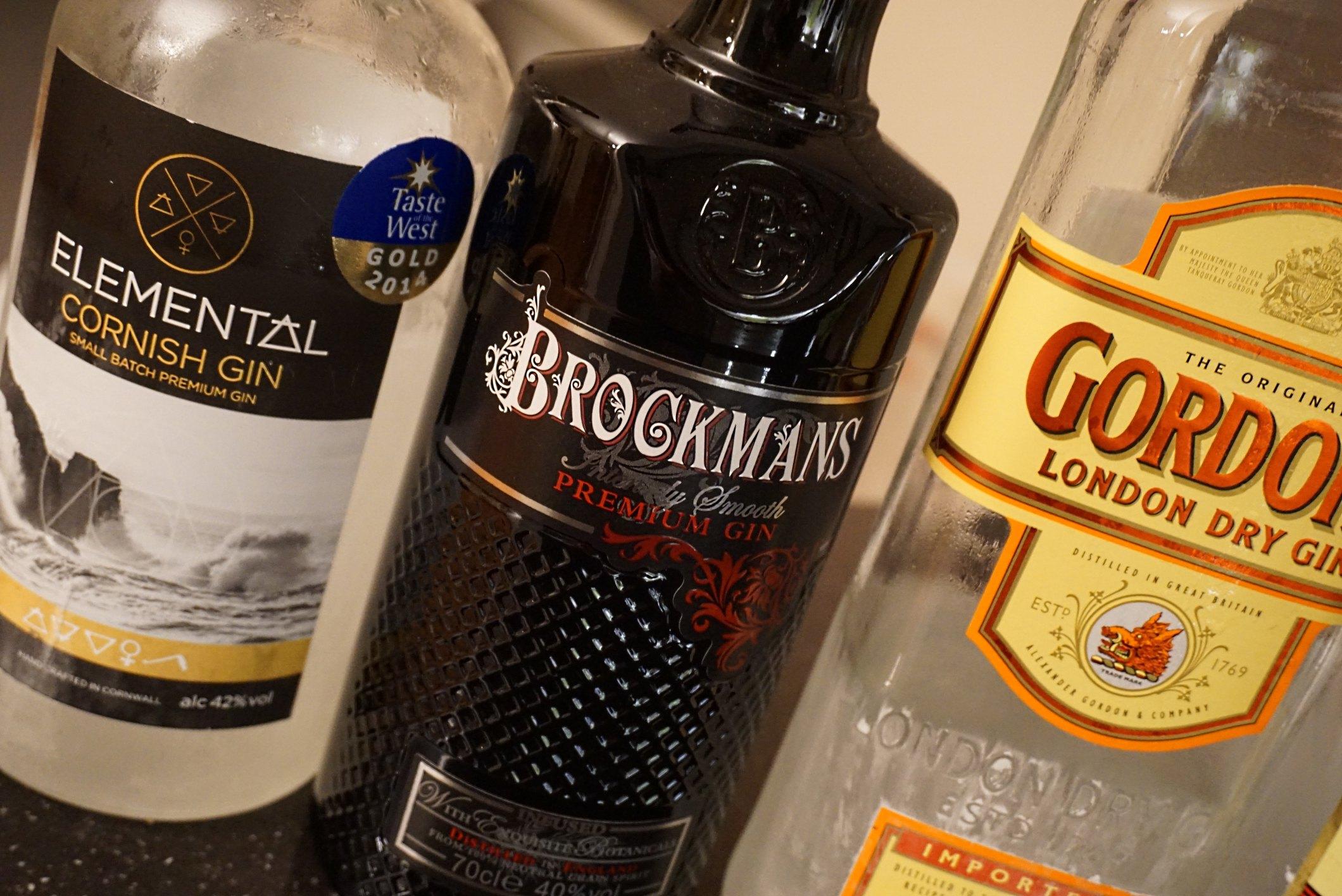 two artisan gins plus Gordon's dry